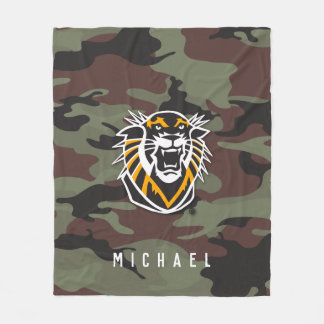 Fort Hays State | Camo Fleece Blanket