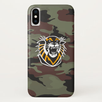 Fort Hays State | Camo iPhone X Case