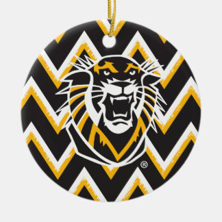 Fort Hays State | Chevron Pattern Ceramic Ornament