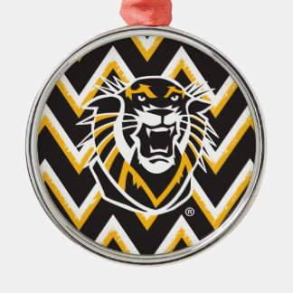 Fort Hays State | Chevron Pattern Metal Ornament