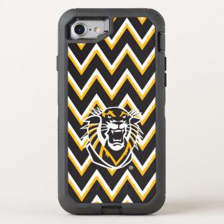 Fort Hays State   Chevron Pattern OtterBox Defender iPhone 8/7 Case