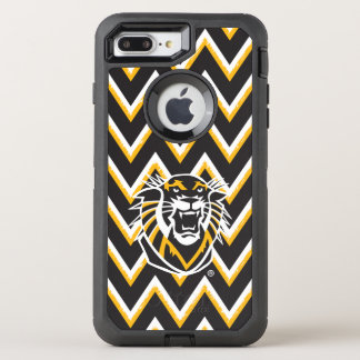 Fort Hays State | Chevron Pattern OtterBox Defender iPhone 8 Plus/7 Plus Case