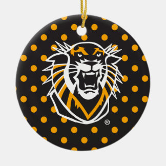 Fort Hays State | Polka Dot Pattern Ceramic Ornament