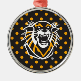 Fort Hays State | Polka Dot Pattern Metal Ornament