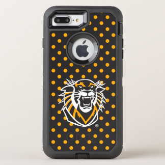 Fort Hays State | Polka Dot Pattern OtterBox Defender iPhone 8 Plus/7 Plus Case