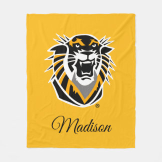 Fort Hays State Primary Mark Fleece Blanket