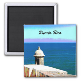 Fort in San Juan, Puerto Rico Square Magnet