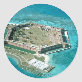 Fort Jefferson National Park Classic Round Sticker