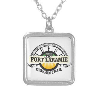 fort laramie art history silver plated necklace