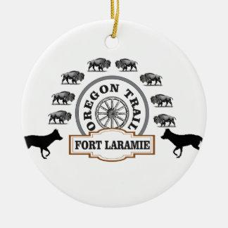 fort Laramie gold Ceramic Ornament