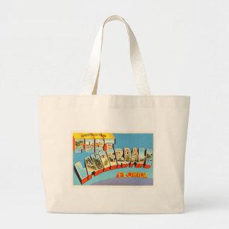Fort Lauderdale #2 Florida FL Old Travel Souvenir Large Tote Bag