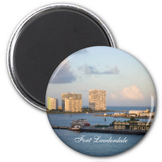 Fort Lauderdale Bay 2 Inch Round Magnet