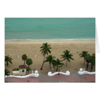 Fort Lauderdale Beach Aerial Card