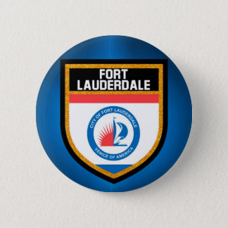 Fort Lauderdale Flag 2 Inch Round Button