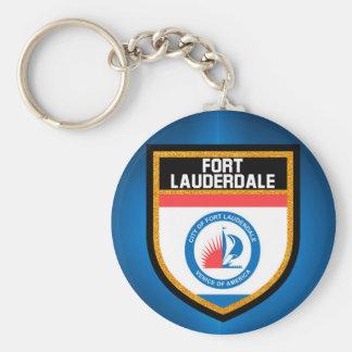 Fort Lauderdale Flag Basic Round Button Keychain