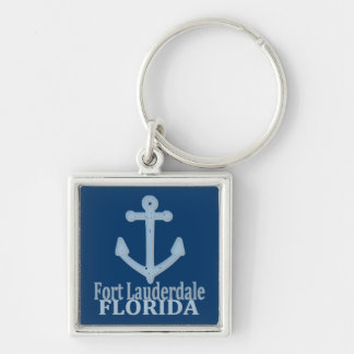 Fort Lauderdale Florida blue anchor keychain