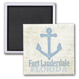 Fort Lauderdale Florida blue anchor magnet