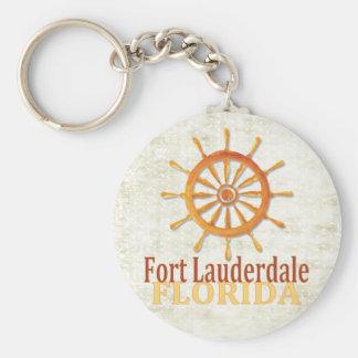 Fort Lauderdale Florida captain's wheel keychain