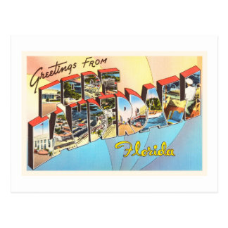 Fort Lauderdale Florida FL Vintage Travel Souvenir Postcard