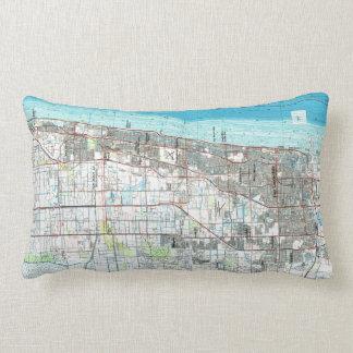 Fort Lauderdale Florida Map (1985) Lumbar Pillow
