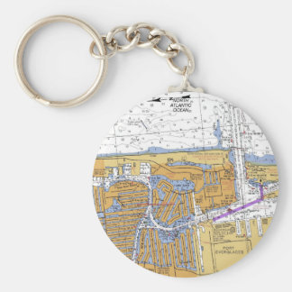 Fort Lauderdale, Florida Nautical Chart Keychain