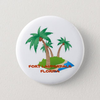 Fort Lauderdale Florida, Tropical Vacation Button
