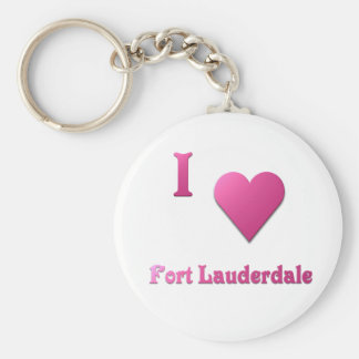 Fort Lauderdale -- Hot Pink Keychain