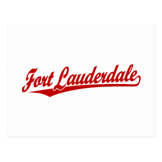Fort Lauderdale in Red Postcard