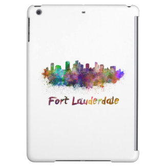 Fort Lauderdale skyline in watercolor iPad Air Cover