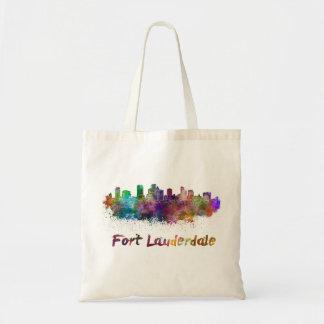 Fort Lauderdale skyline in watercolor Tote Bag