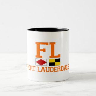 Fort Lauderdale. Two-Tone Coffee Mug