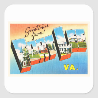 Fort Lee Virginia VA Old Vintage Travel Postcard- Square Sticker