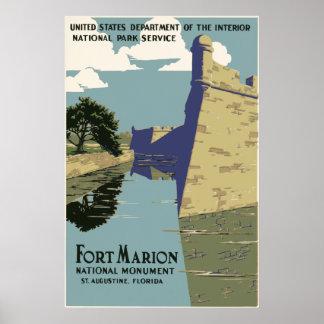 Fort Marion Florida Poster