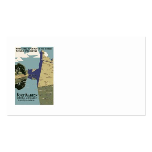 Fort Marion National Monument St Augustine Florida Business Card