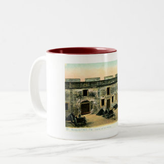 Fort Marion, St. Augustine, Florida Vintage Two-Tone Coffee Mug