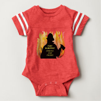 Fort McMurray Strong and Proud - Baby Footballer Baby Bodysuit