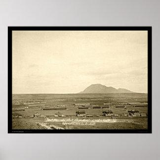 Fort Meade avec l écart-type 1888 de butte d ours Posters