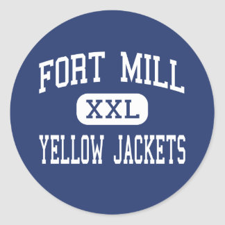 Fort Mill - Yellow Jackets - High - Fort Mill Classic Round Sticker
