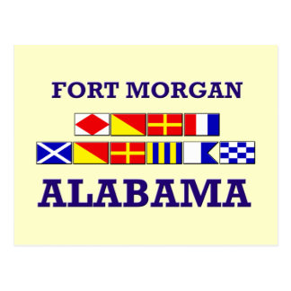 Fort Morgan Flag Postcard