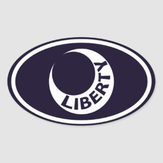 "Fort Moultrie ""Liberty"" Crescent Oval Sticker"