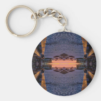 Fort Myers Beach Psychedelic Basic Round Button Keychain