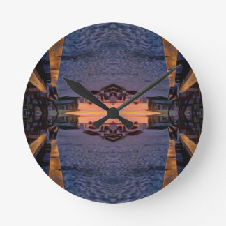 Fort Myers Beach Psychedelic Round Clock
