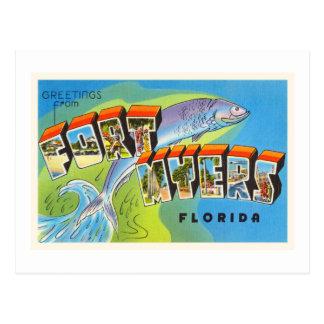 Fort Myers Florida FL Old Vintage Travel Souvenir Postcard