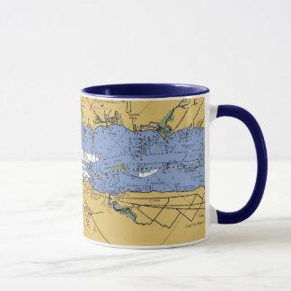 Fort Myers, Florida Nautical Harbor Chart Mug
