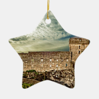 Fort on the hill ceramic ornament