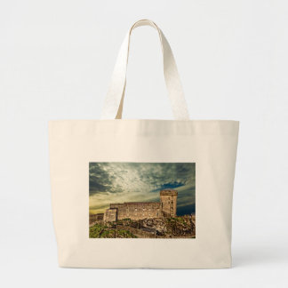 Fort on the hill large tote bag