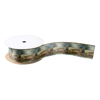 Fort on the hill satin ribbon
