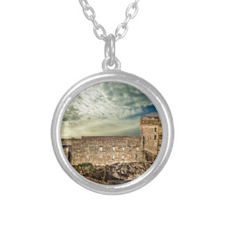 Fort on the hill silver plated necklace