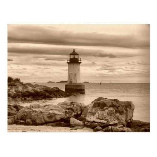 Fort Pickering Lighthouse-Postcard