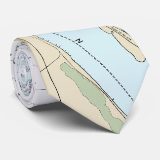 Fort Pierce FL St. Lucie Authentic Nautical Chart Tie